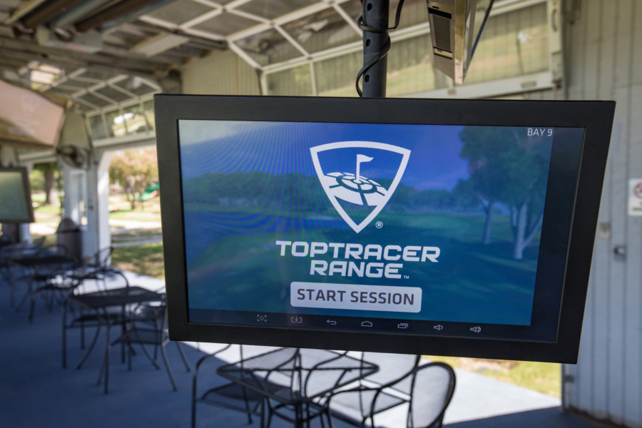 Toptracer monitor screen
